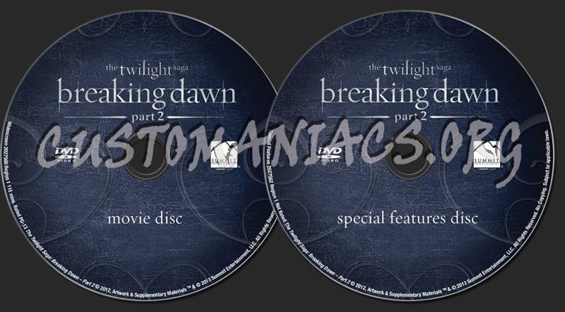 The Twilight Saga Breaking Dawn Part 2 dvd label