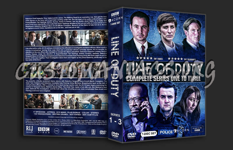 Line of Duty - Series 1-3 dvd cover