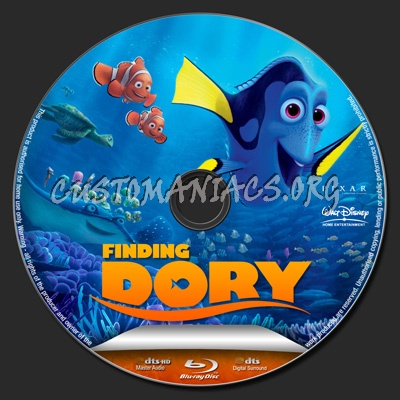 Finding Dory blu-ray label