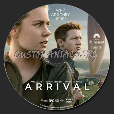 Arrival (2016) dvd label