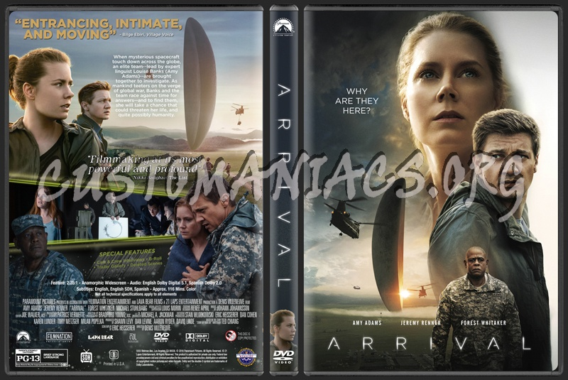 Arrival (2016) dvd cover