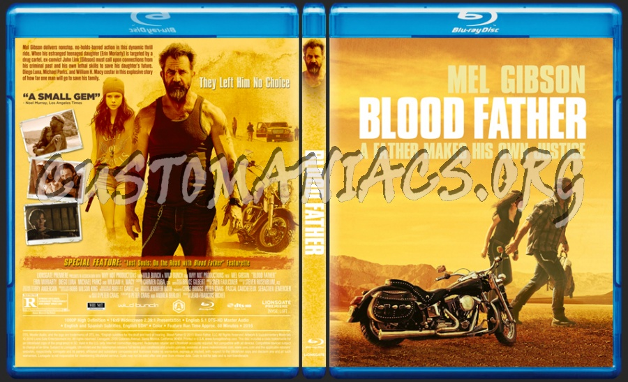 Blood Father blu-ray cover