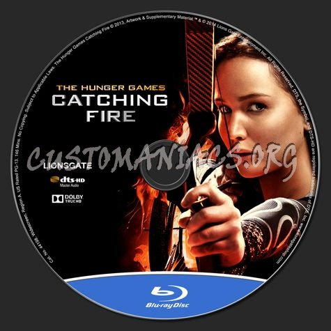 The Hunger Games: Catching Fire blu-ray label