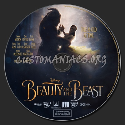 Beauty And The Beast (2017) dvd label