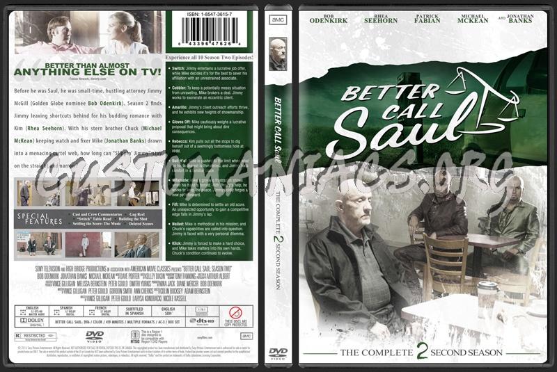 Better Call Saul Season 2 dvd cover