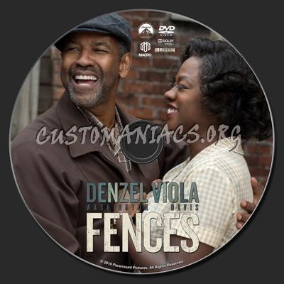 Fences (2016) dvd label