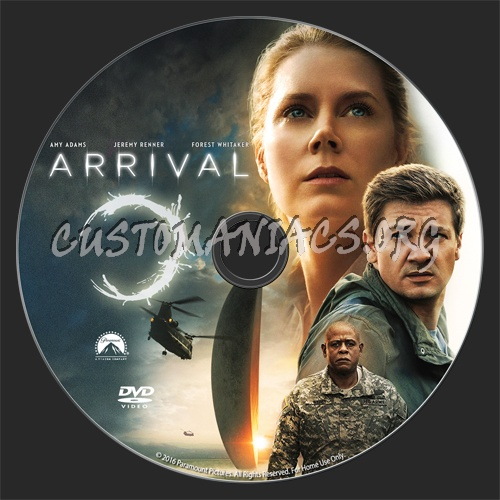 Arrival dvd label