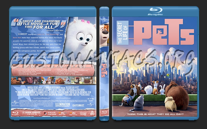 The Secret Life of Pets blu-ray cover