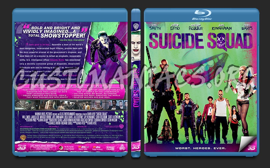 Suicide Squad blu-ray cover