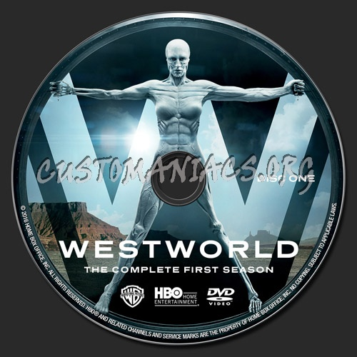 Westworld Season 1 dvd label