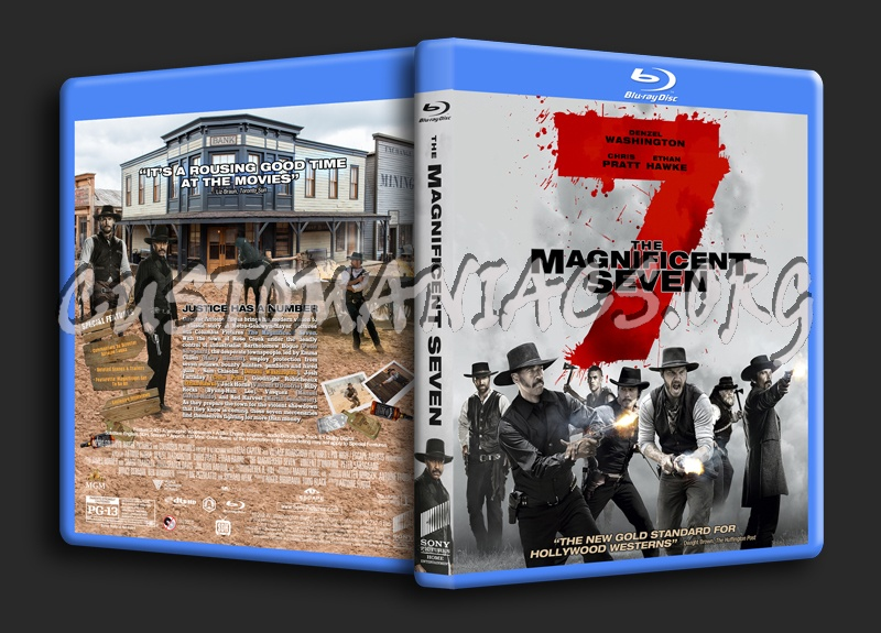 The Magnificent Seven (2016) blu-ray cover