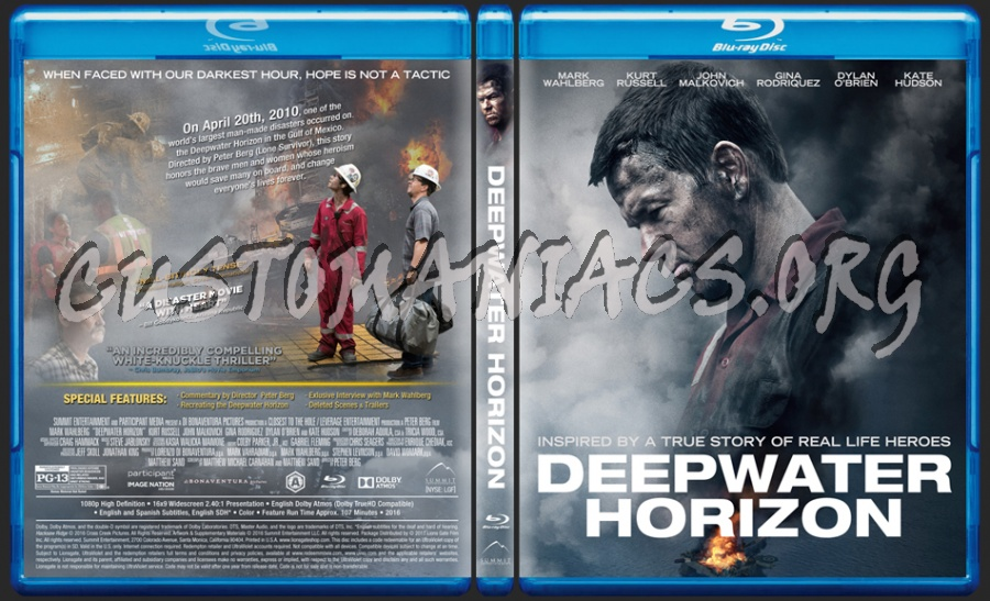 Deepwater Horizon blu-ray cover