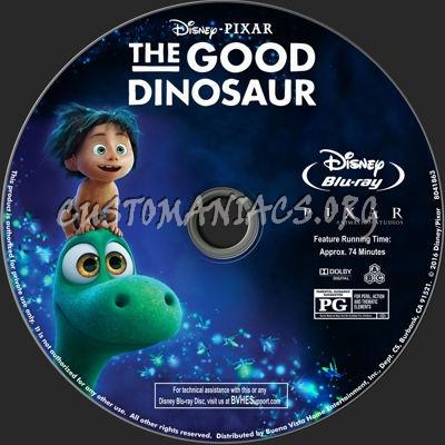 The Good Dinosaur blu-ray label