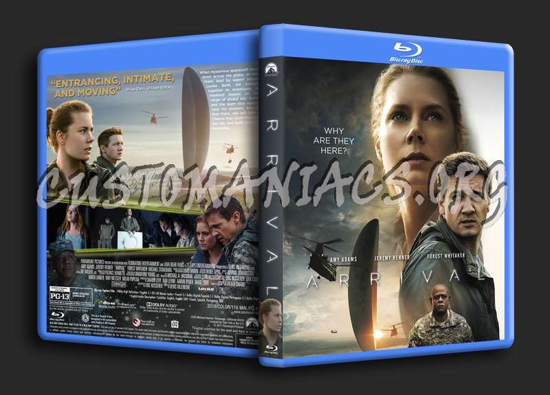 Arrival (2016) blu-ray cover