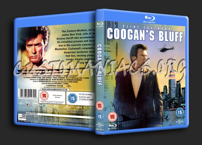 Coogan's Bluff blu-ray cover