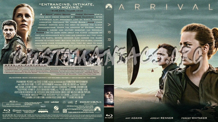 Arrival blu-ray cover
