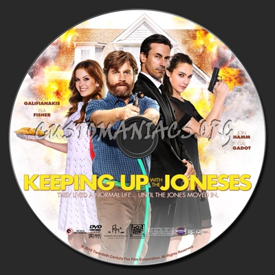 Keeping Up With The Joneses dvd label