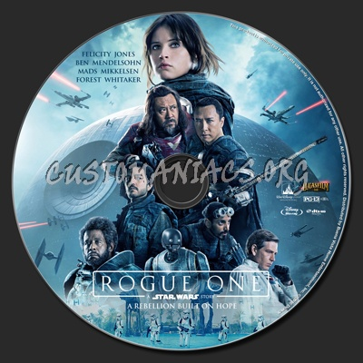 Rogue One: A Star Wars Story blu-ray label