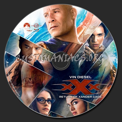 xXx: Return Of Xander Cage blu-ray label