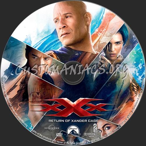 XXX Return Of Xander Cage dvd label