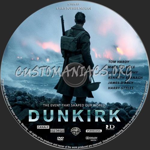 Dunkirk dvd label