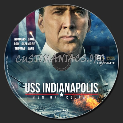 USS Indianapolis: Men Of Courage blu-ray label