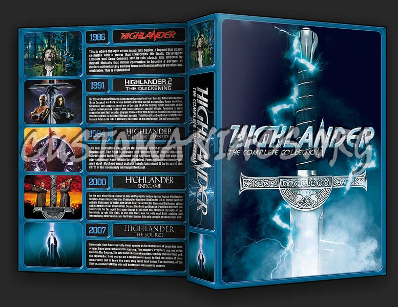 The Highlander Collection dvd cover