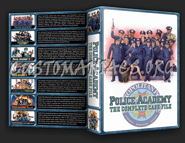 The Police Academy Collection dvd cover