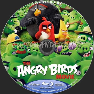 The Angry Birds Movie blu-ray label