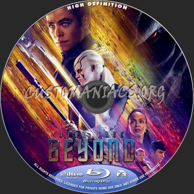 Star Trek - Beyond blu-ray label