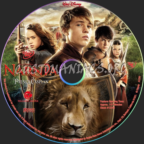 The Chronicles of Narnia Prince Caspian dvd label
