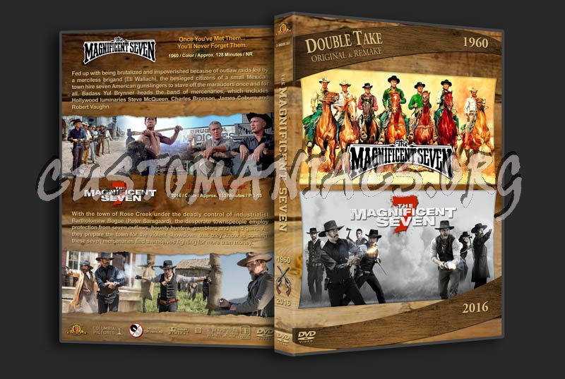 The Magnificent Seven Double Feature dvd cover