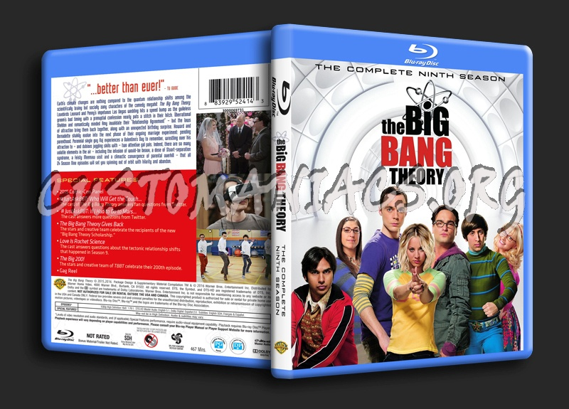 The Big Bang Theory Season 9 blu-ray cover