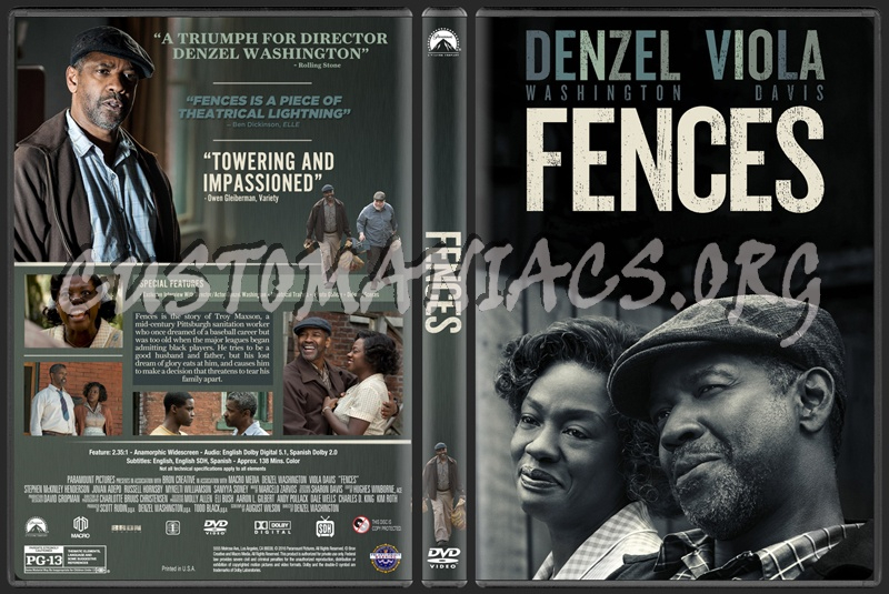 Fences (2016) dvd cover