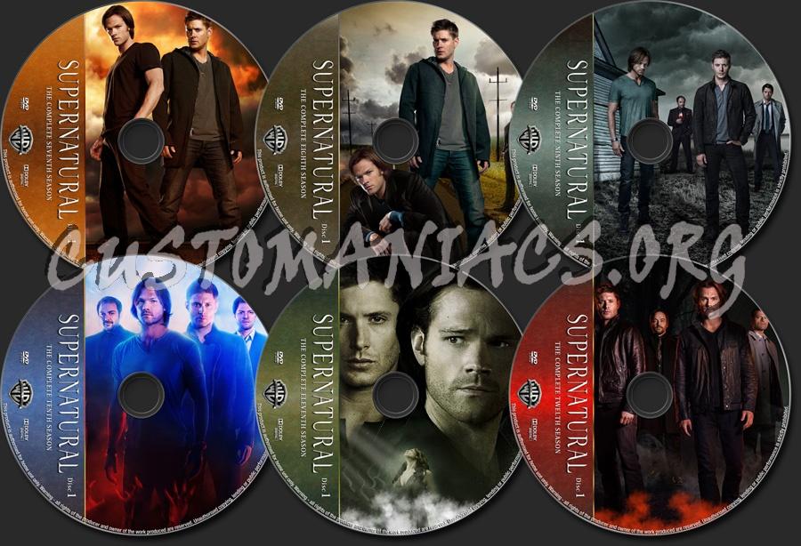 Supernatural Seasons 7-12 dvd label