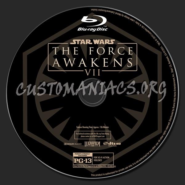 Star Wars: The Force Awakens (2D/3D/4K) blu-ray label