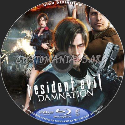 Resident Evil: Damnation blu-ray label