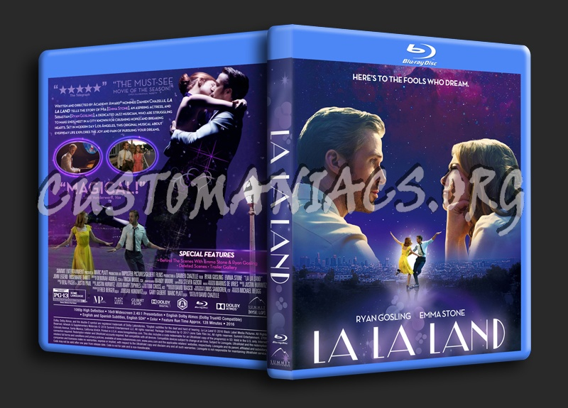 La la land blu ray cover dvd covers labels by customaniacs id 244035 free download highres - La la land download ...