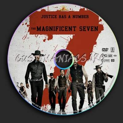 The Magnificent Seven dvd label