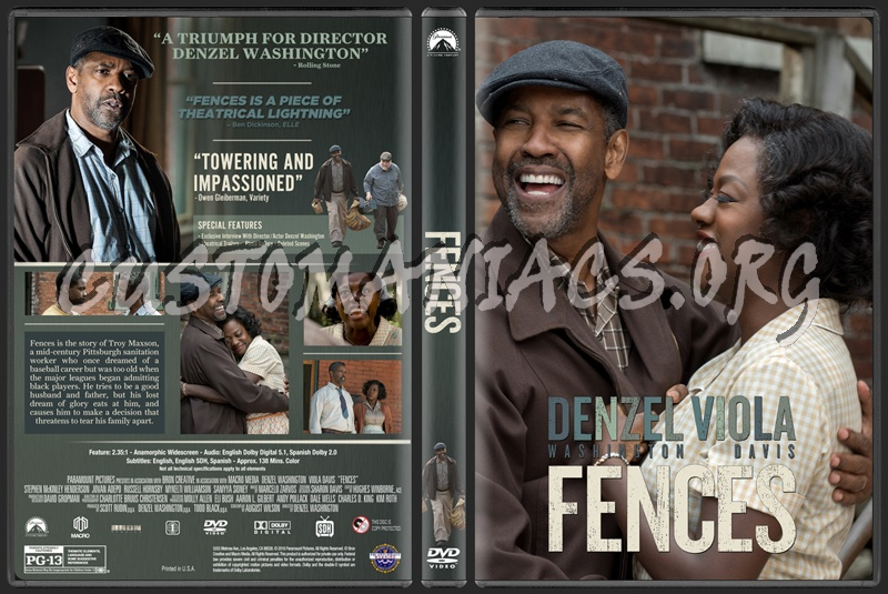 Fences (2016) dvd cover