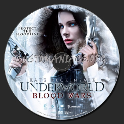 Underworld: Blood Wars dvd label