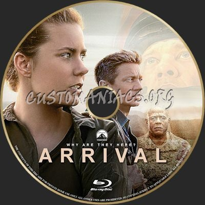 Arrival blu-ray label