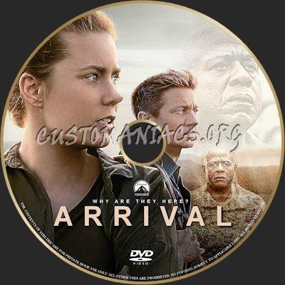 Arrival dvd label