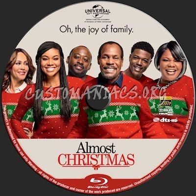 Almost Christmas blu-ray label