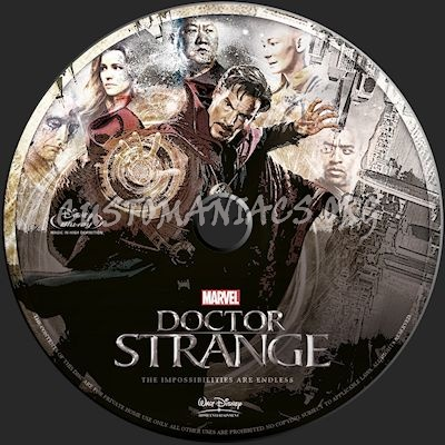 Doctor Strange blu-ray label