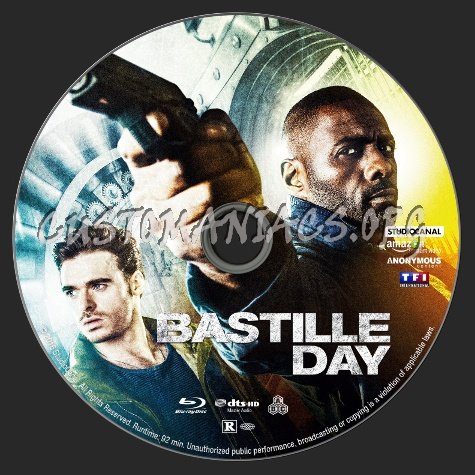Bastille Day blu-ray label