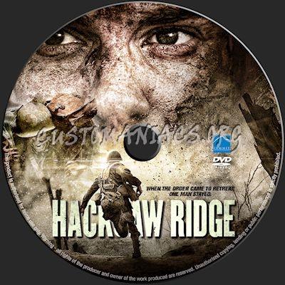 Hacksaw Ridge dvd label