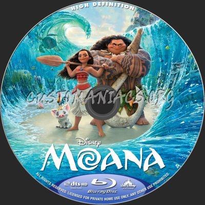 Moana blu-ray label