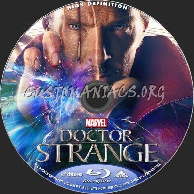 Doctor Strange blu-ray label