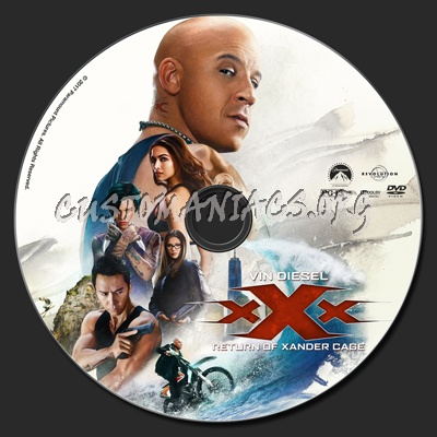 xXx: Return Of Xander Cage dvd label